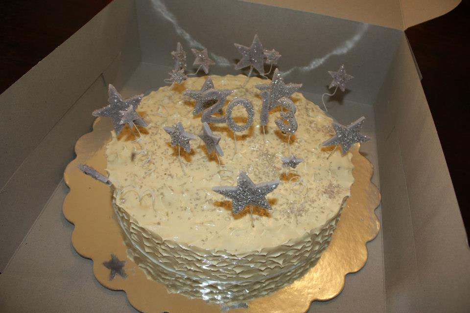 New Years Festive Cake