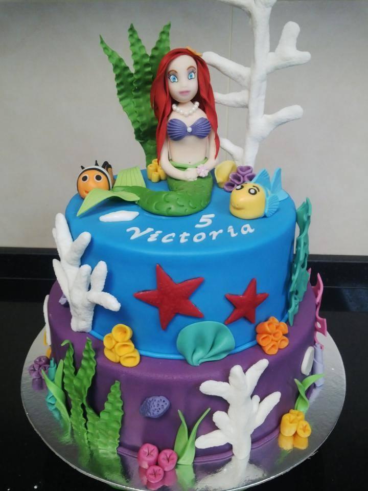 Ariel Mermaid Cake