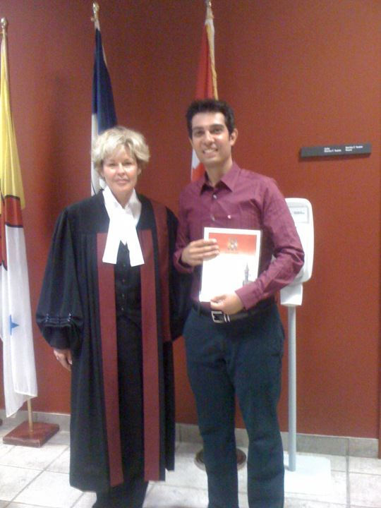 Canadian citizenship ceremony, Taking the oath of Canadian citizenship