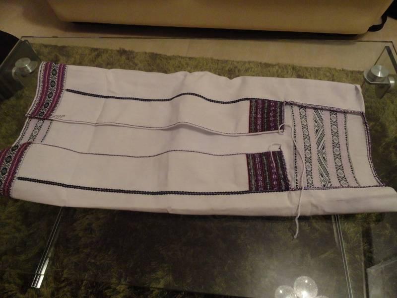 """A handmade tanchangya shirt called """"jhumo shalum"""" worn by women"""