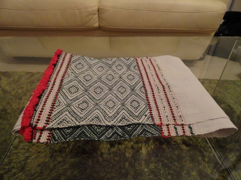 "A handmade tanchangya women headscarf called ""madha-habong"""