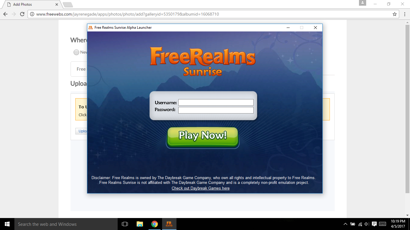 Free Realms Sunrise Launcher #1