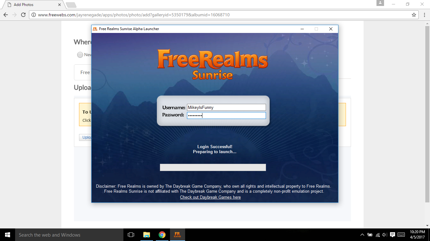 Free Realms Sunrise Launcher #2