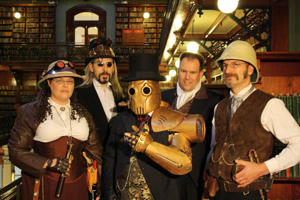 Steampunk SA photoshoot in Mortlock Wing of the SA Library