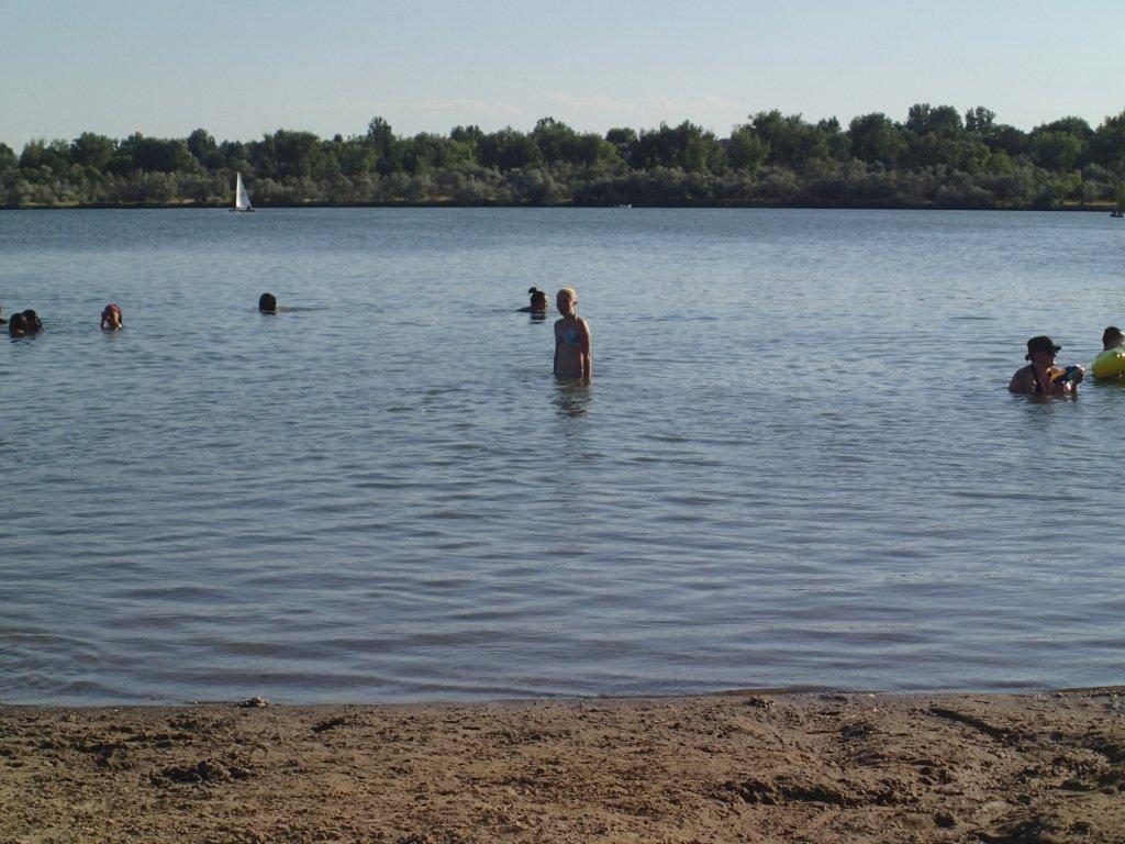 Swimming at Lake Elmo