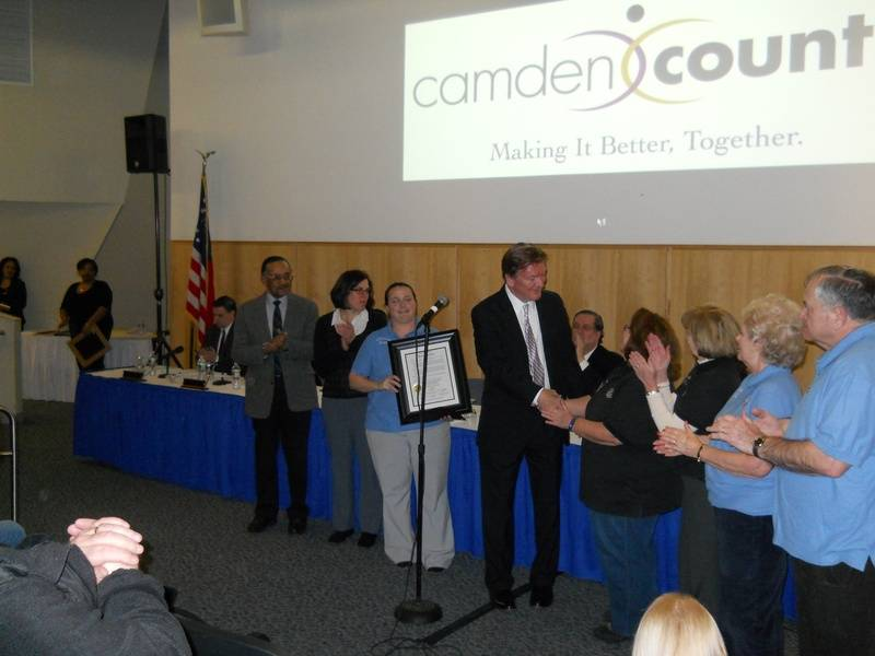 Community Award from Camden County Freeholders.
