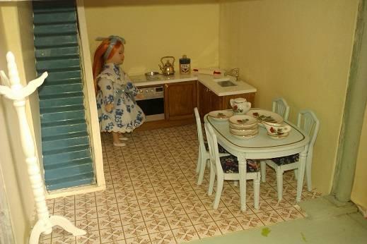 New kitchen units in situ