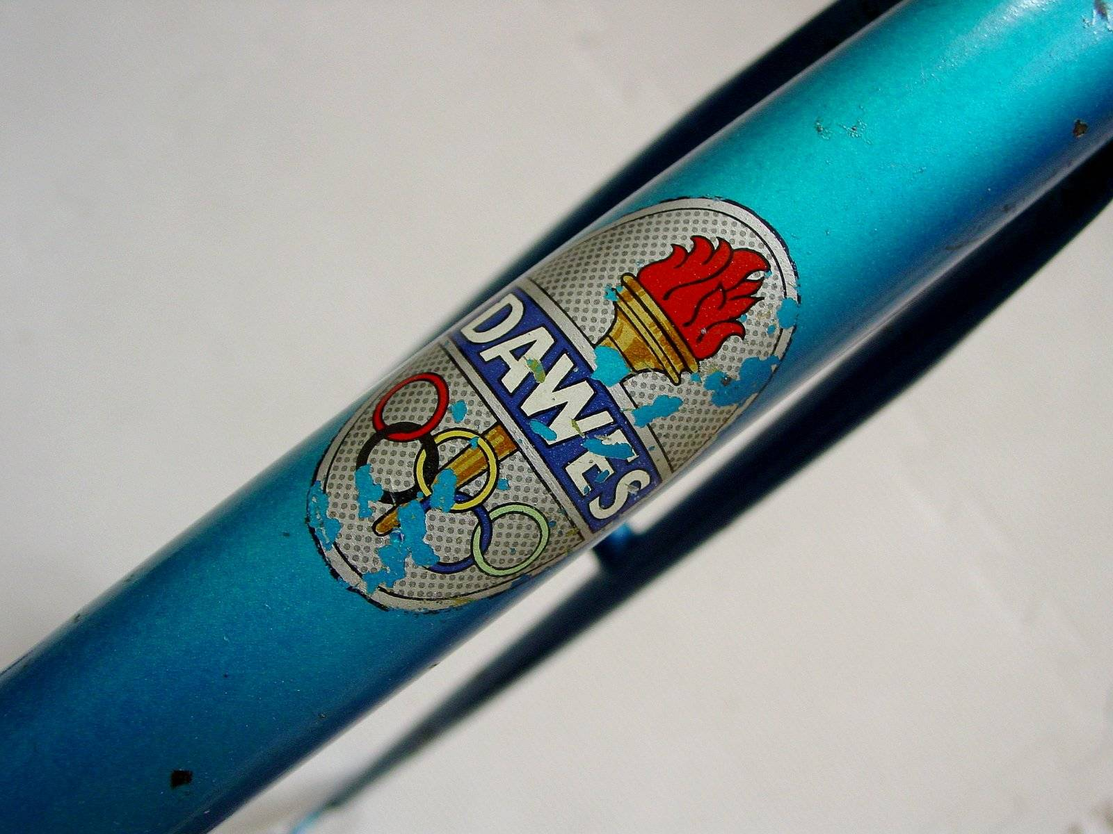 Older type varnish fix ( or possibly waterslide ?)Olympic decal..