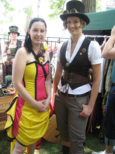 Two of Toronto's most lovely steampunks