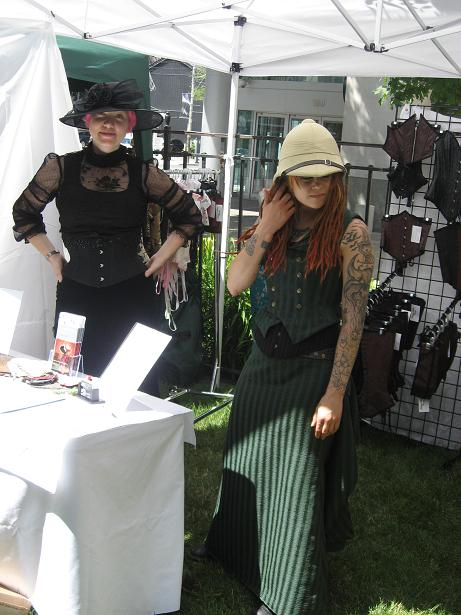 Fabulous corsets and spats for sale!