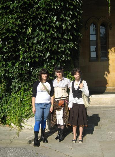 With the girls by the castle