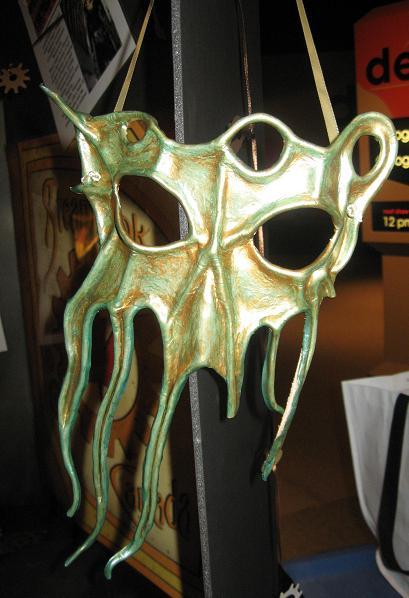Kraken/Cthulhu mask on display