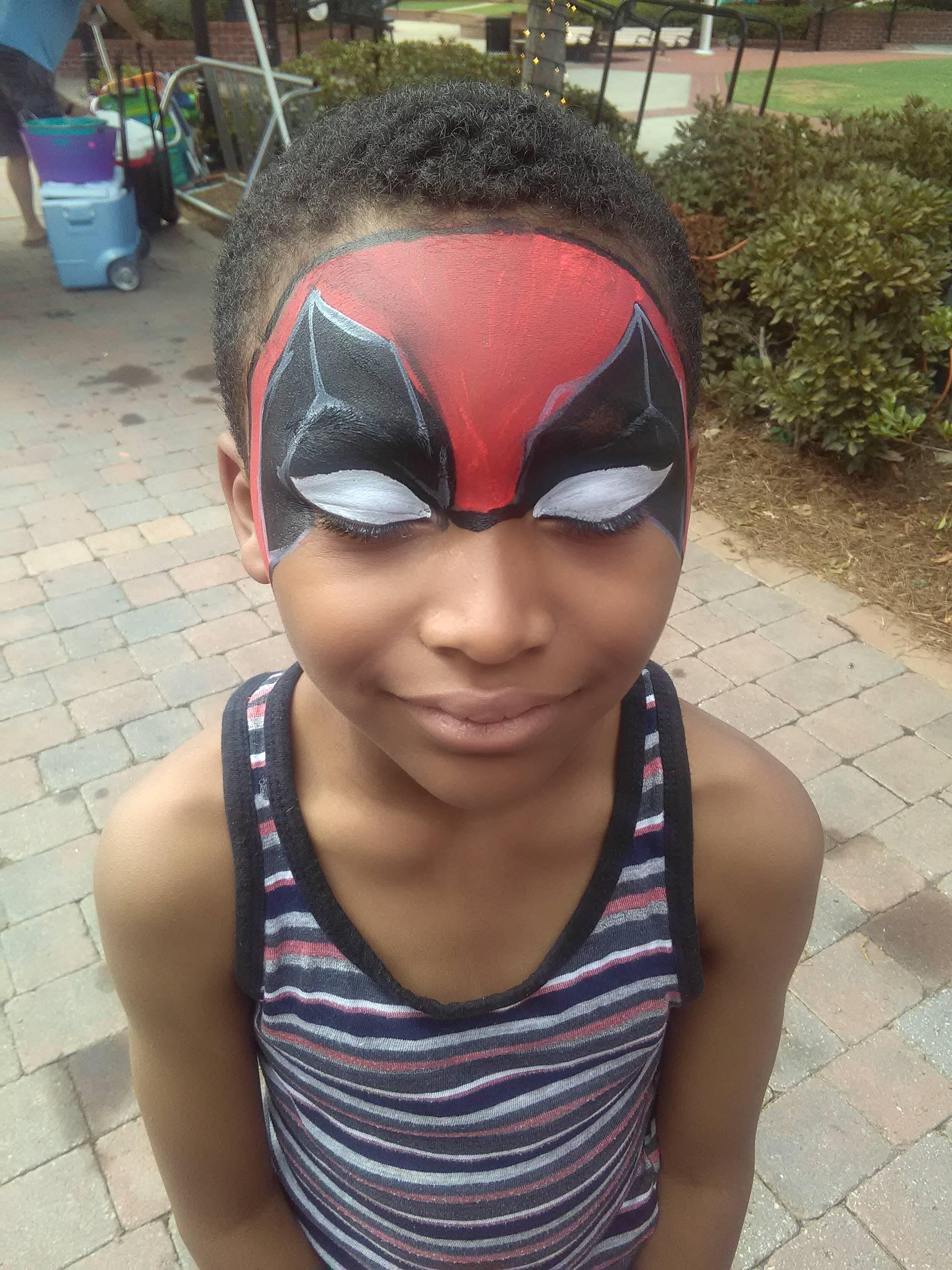Deadpool face paint
