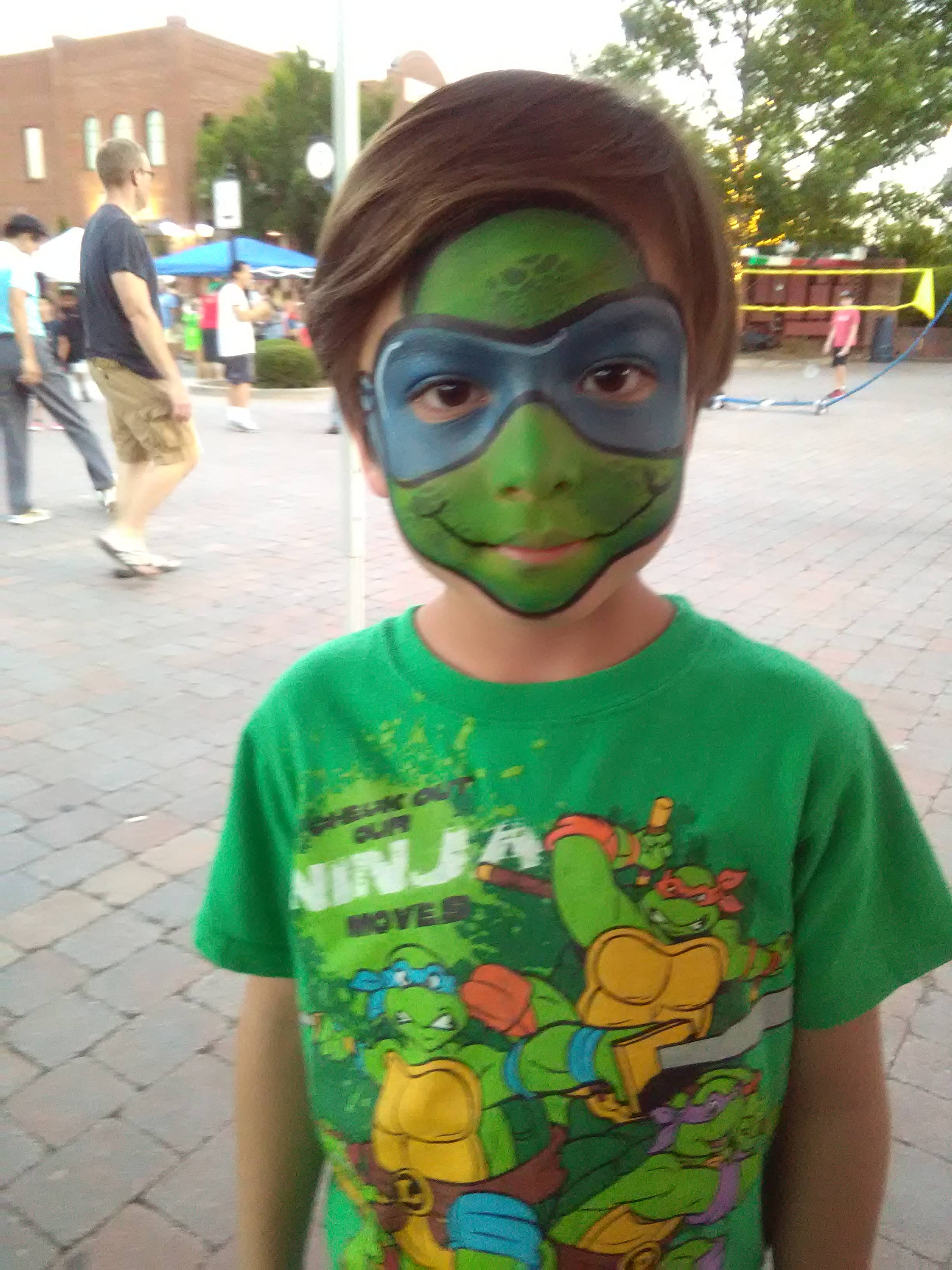 Teenage Mutant Ninja Turtle TMNT full face painting