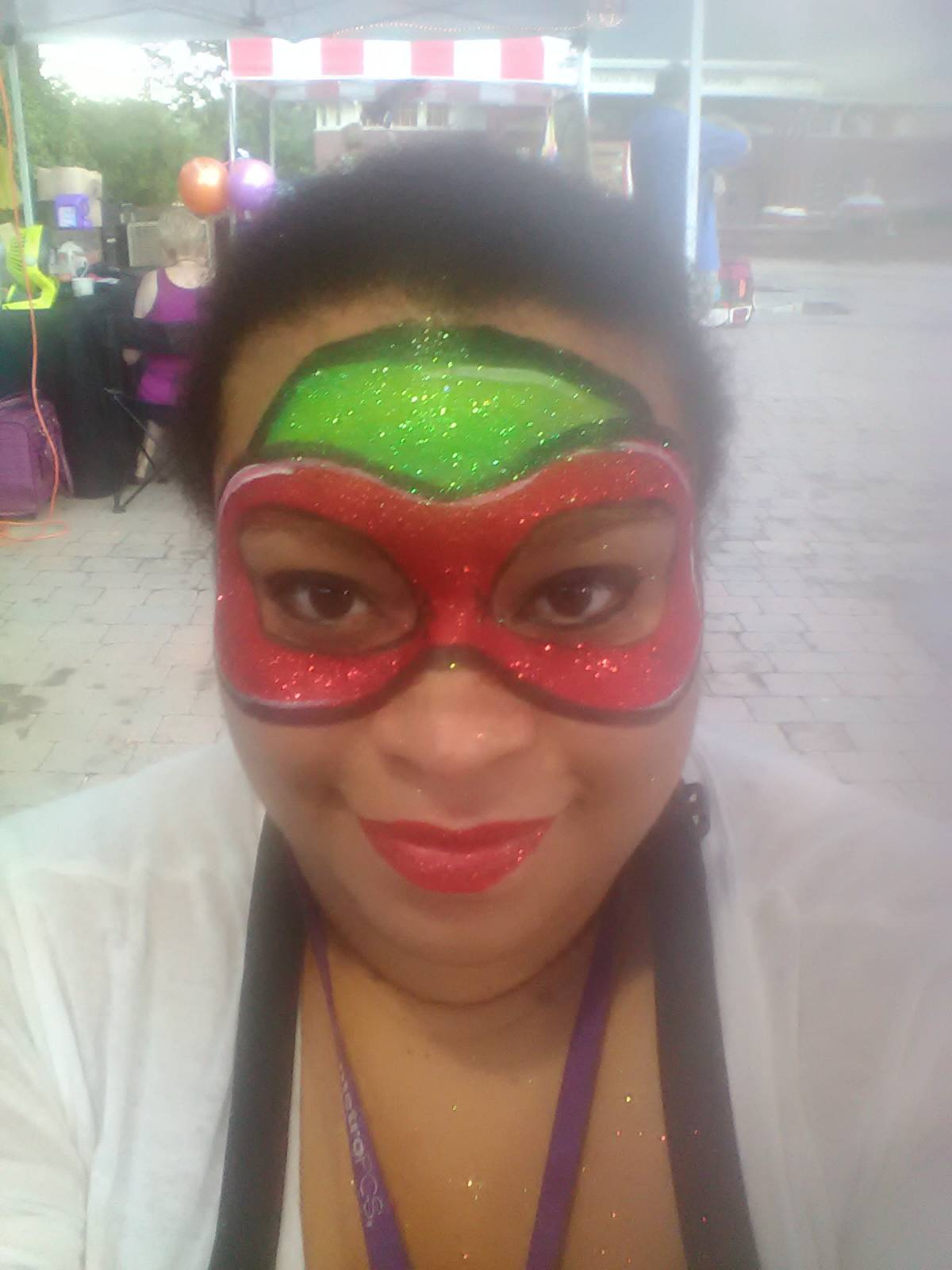 Teenage Mutant Ninja Turtle Glitter Mask