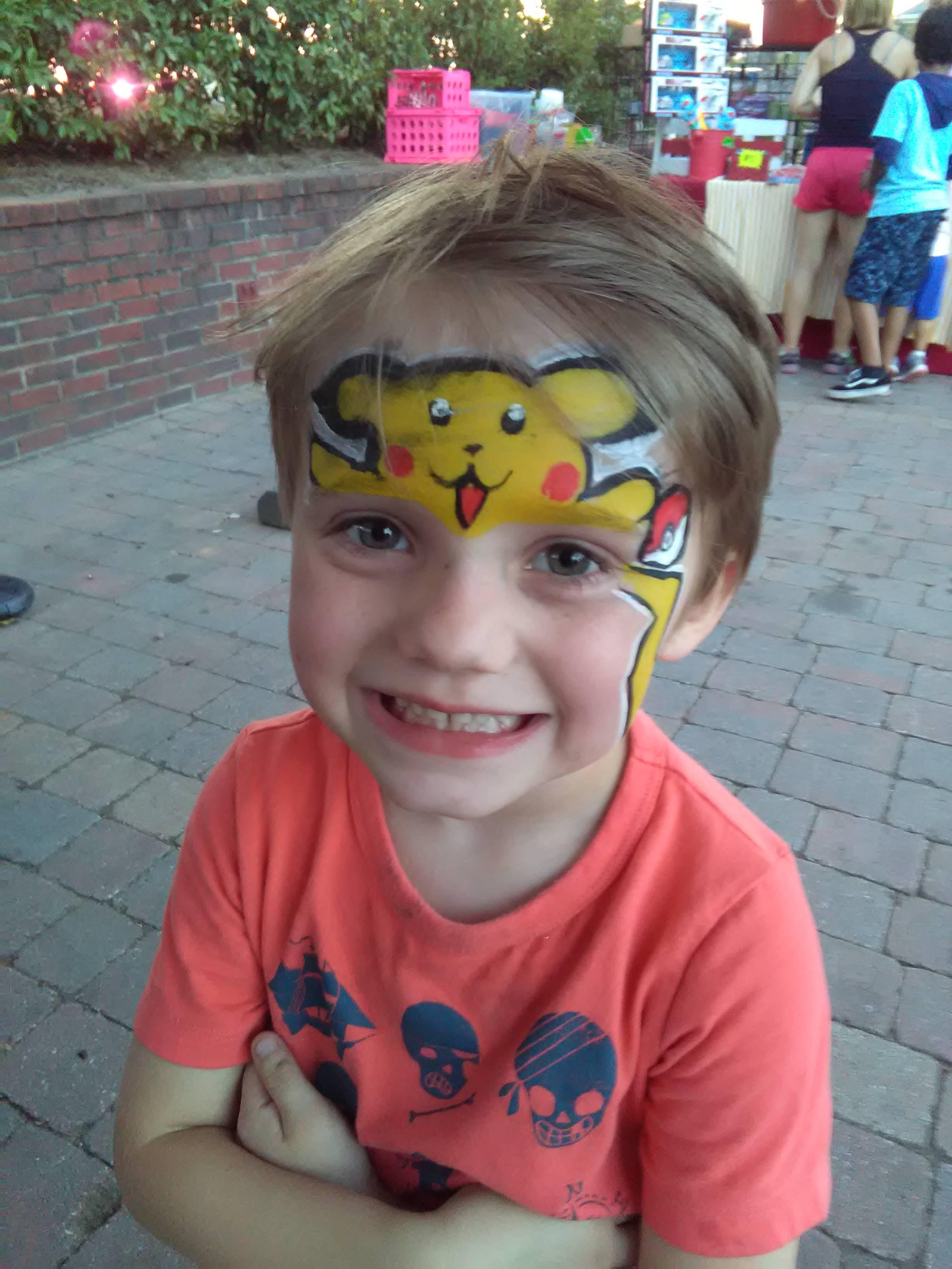 Pikachu Mask face paint