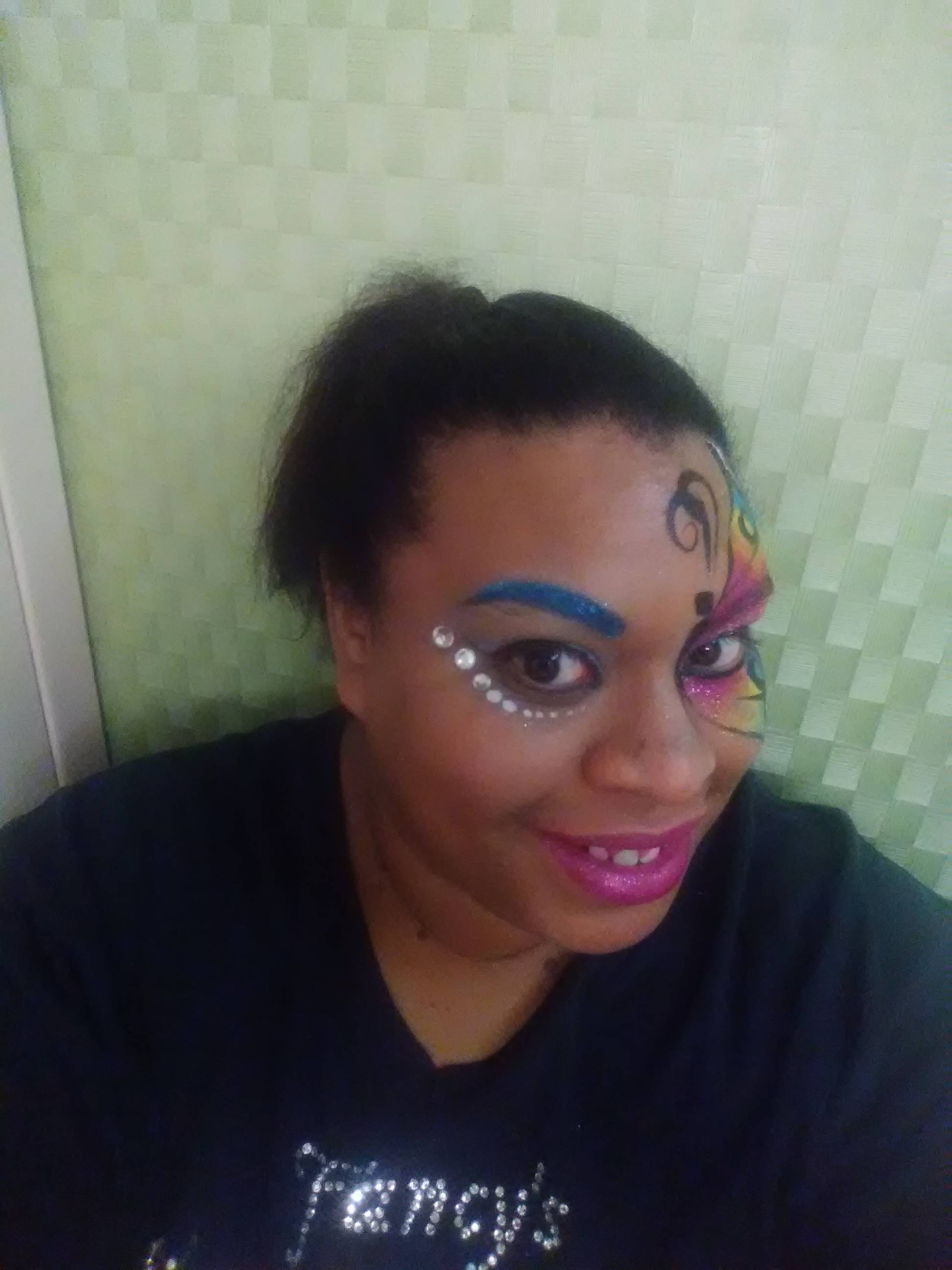 Eye Brow Bling face painter