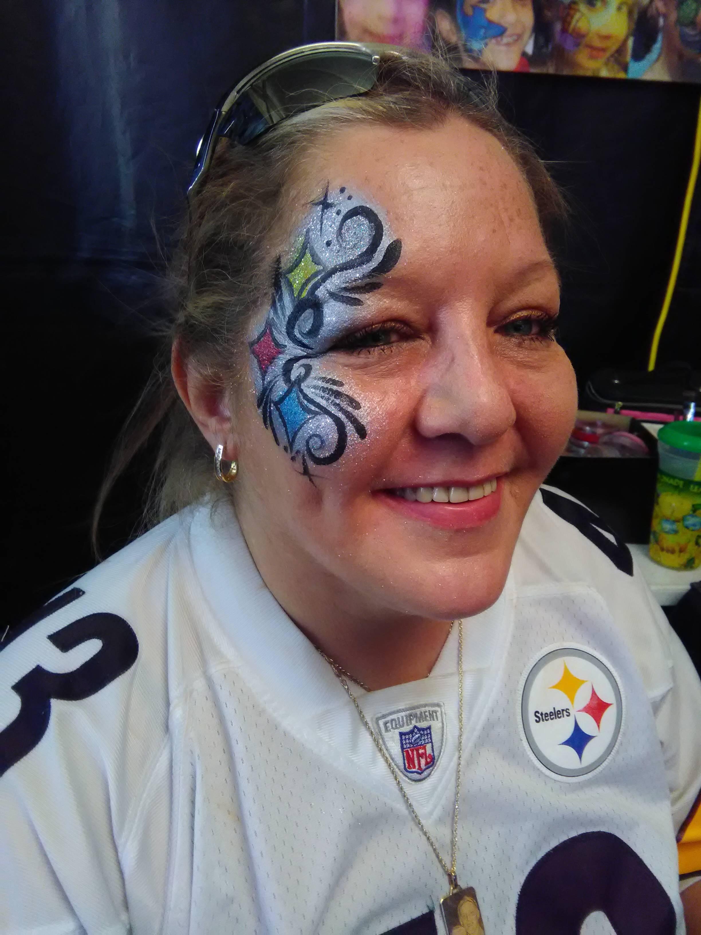 Steelers fan face painting