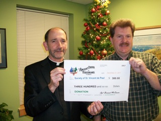 Donation to the Society of St. Vincent de Paul