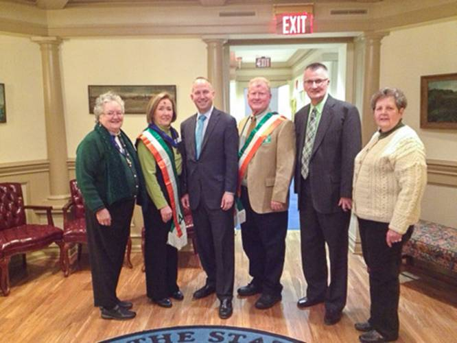 Hibernians with the Guv 2014