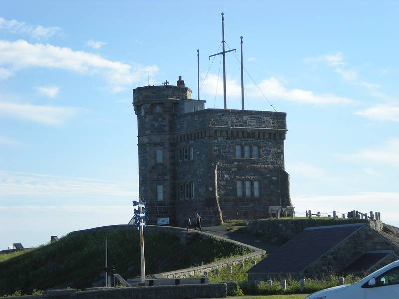 Cabot Tower close up.