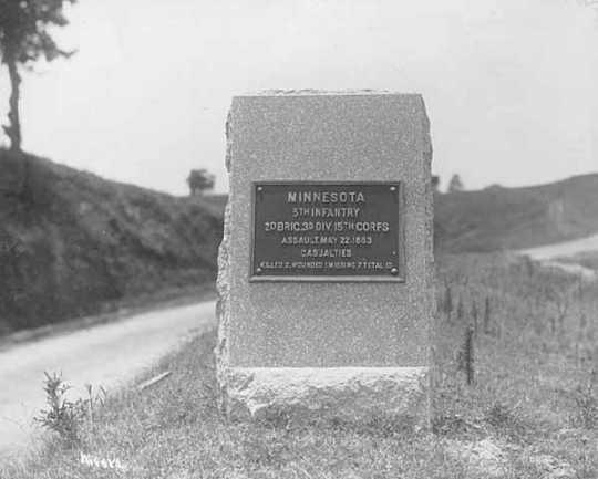 5th MN monument, Battle of Vickburg