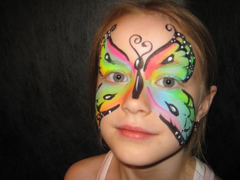 Neon rainbow butterfly
