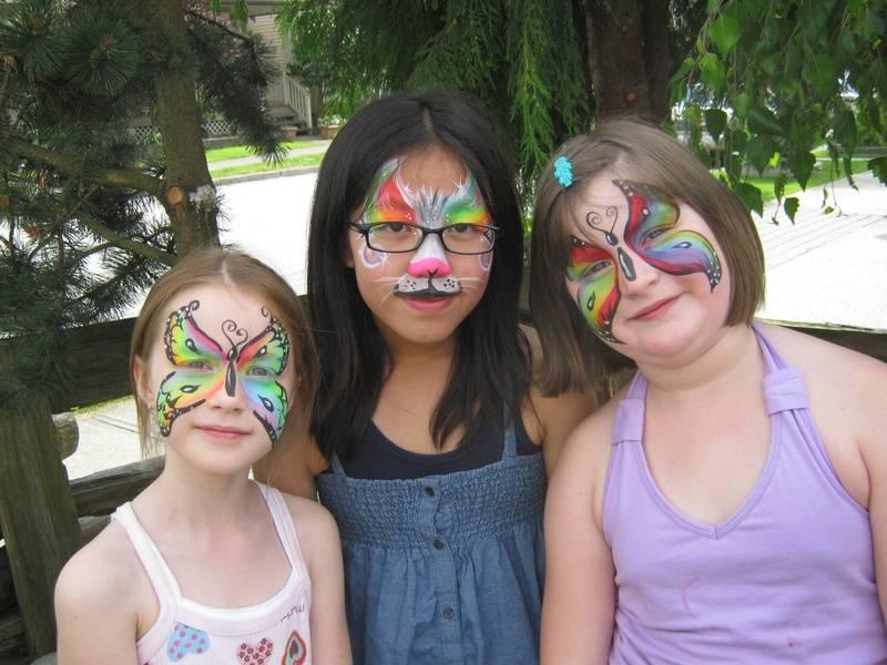 Rainbow faces