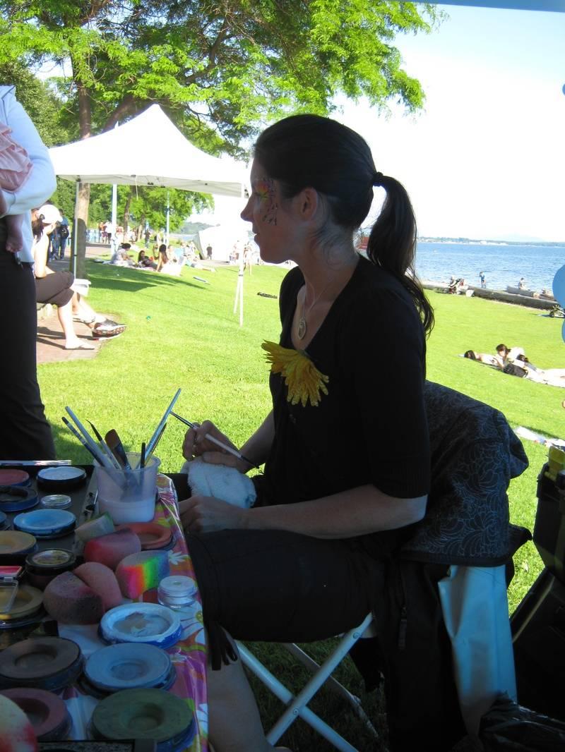 Sara at the Spirit of the ea Festival