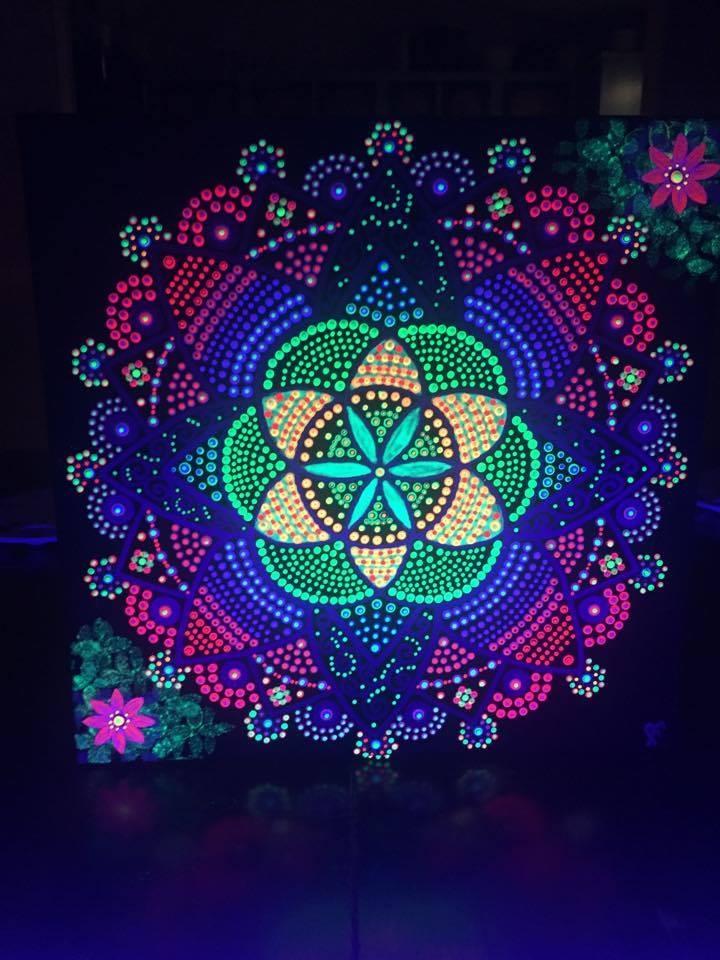 Seeds of Life Mandala UV Light