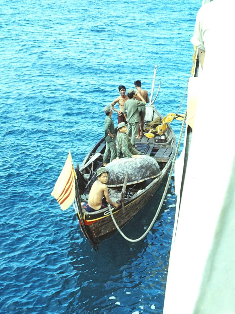 Boarding fishing boats