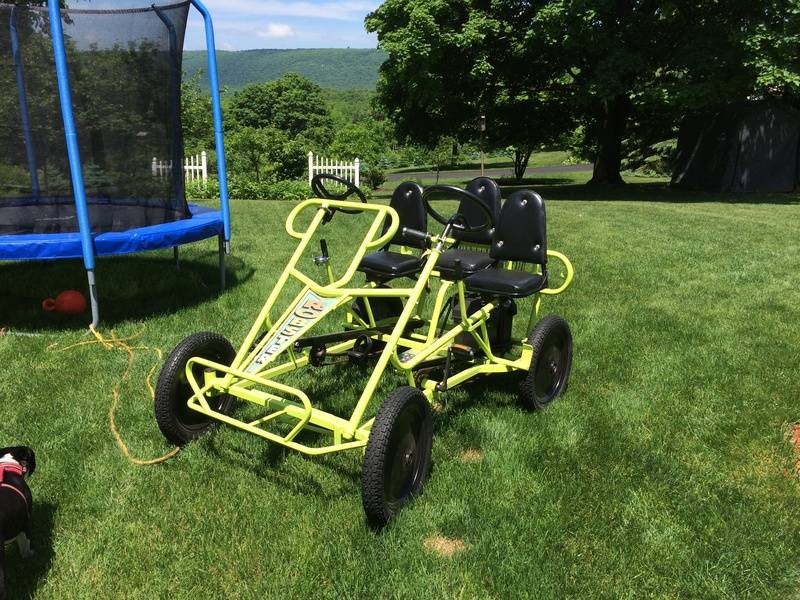 Thomas' Great cart with 36v600w brush trike kit.