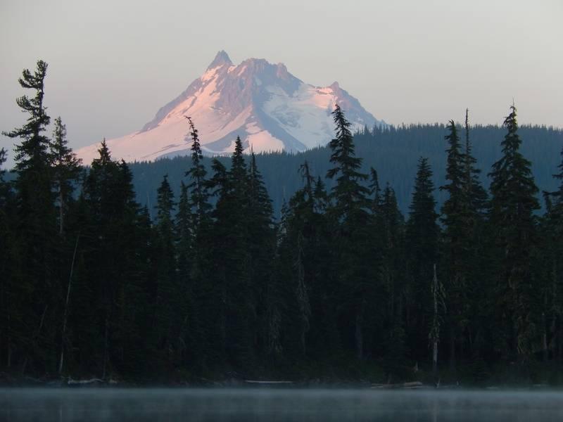 Sunrise and mist
