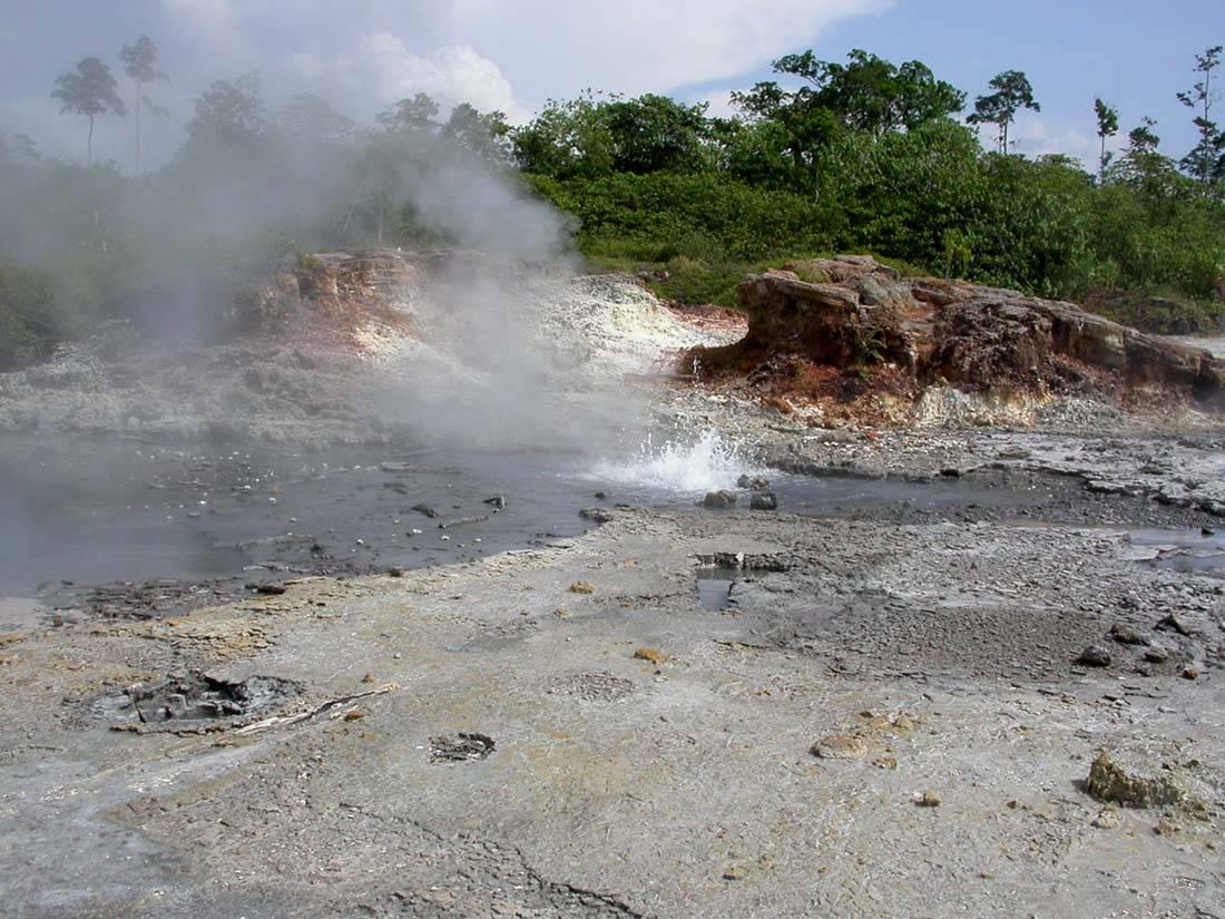 geysers near the Lavege Track