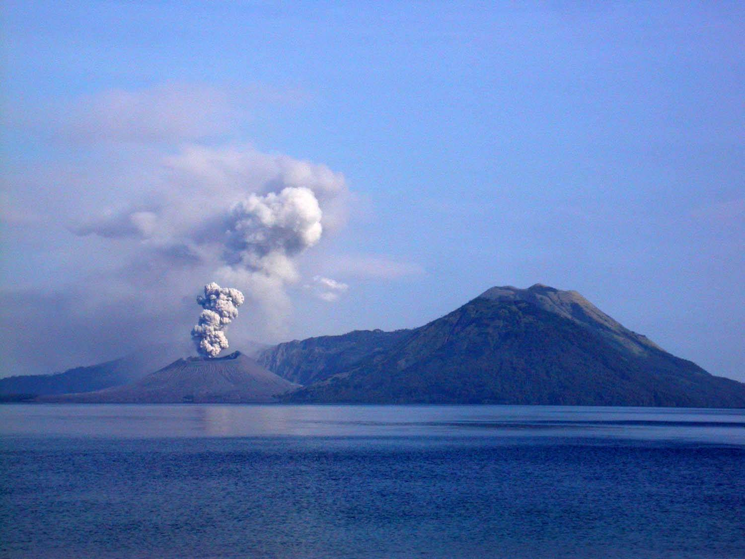 eruption at Rabaul