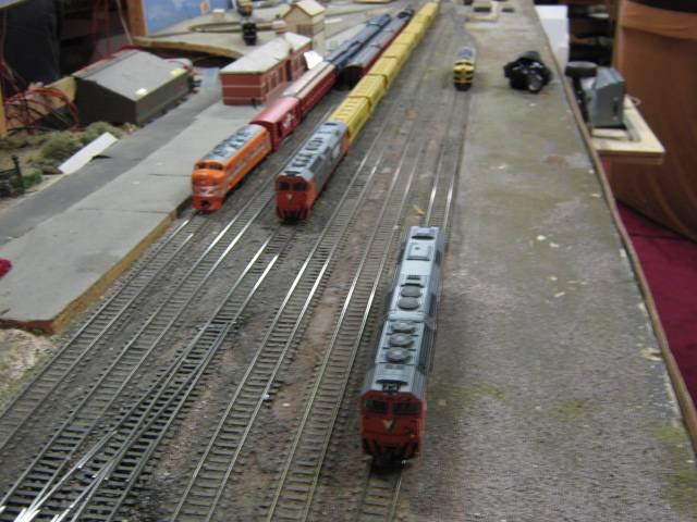 Trains waiting at Bacchus Marsh