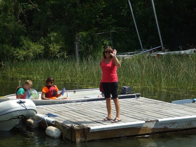 Joyce on the dock