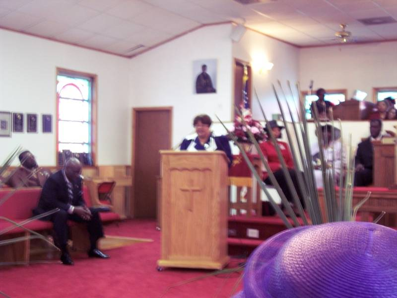 Sister Wright give Church History