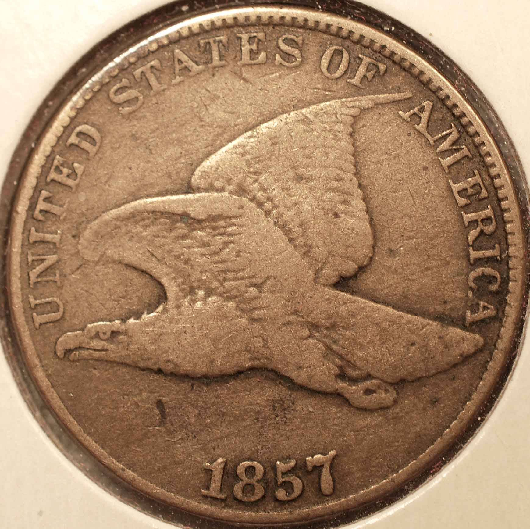 1857 Flying Eagle Cent VF Obverse