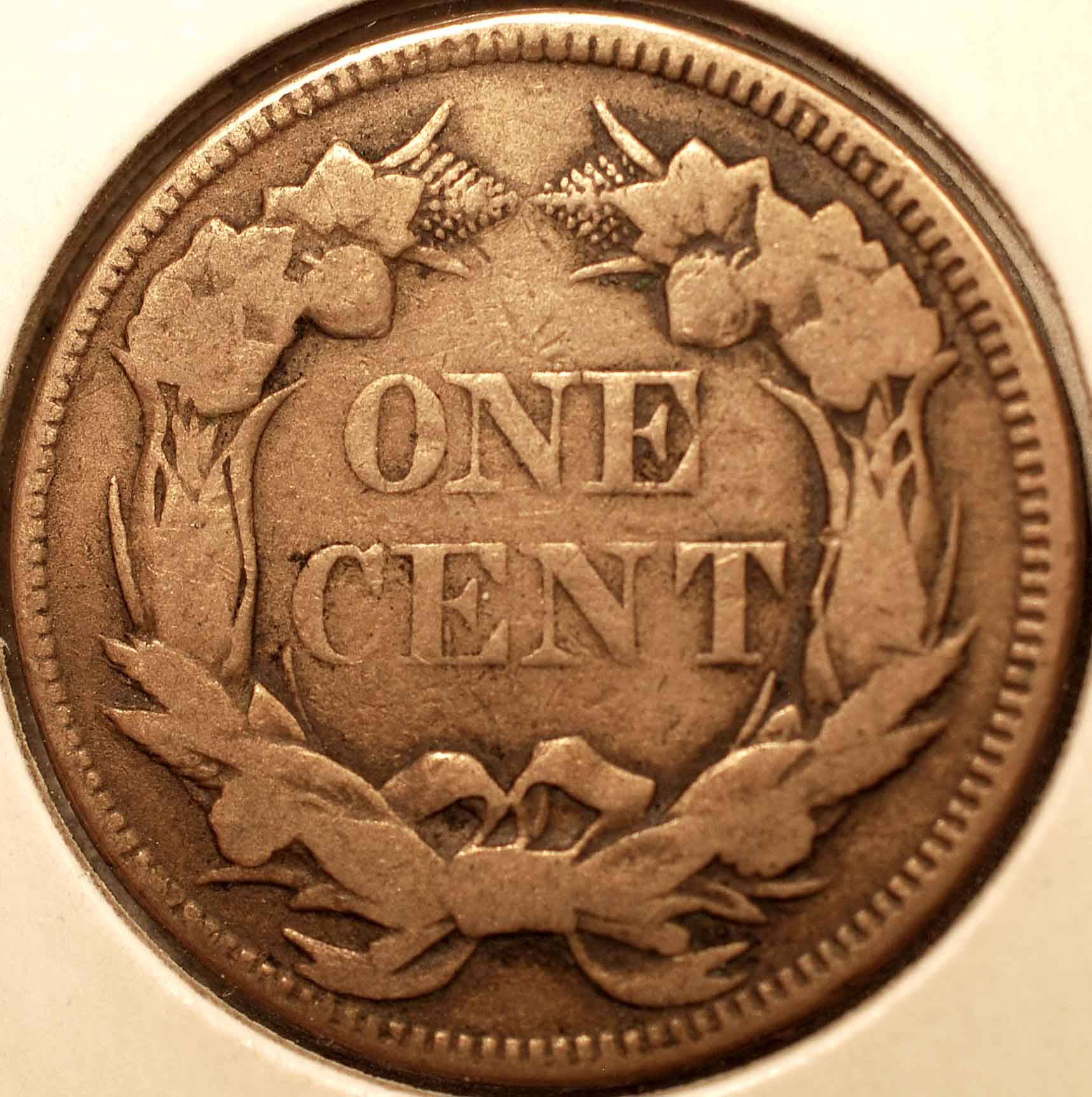 1857 Flying Eagle Cent VF Reverse