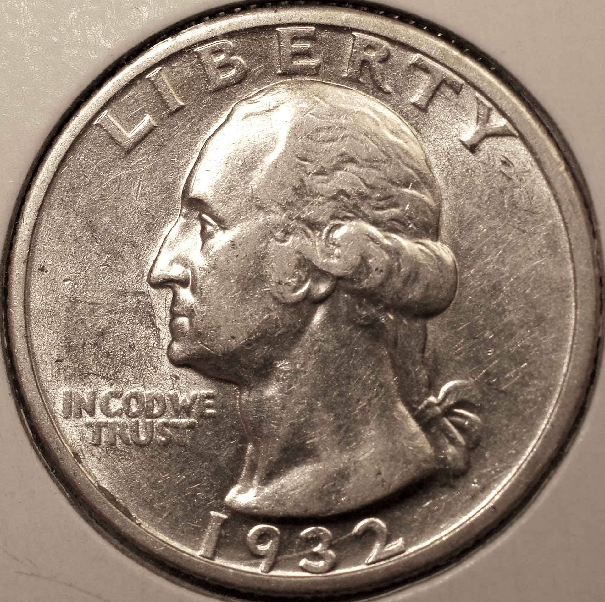 1932-S Washington Quarter AU Obverse