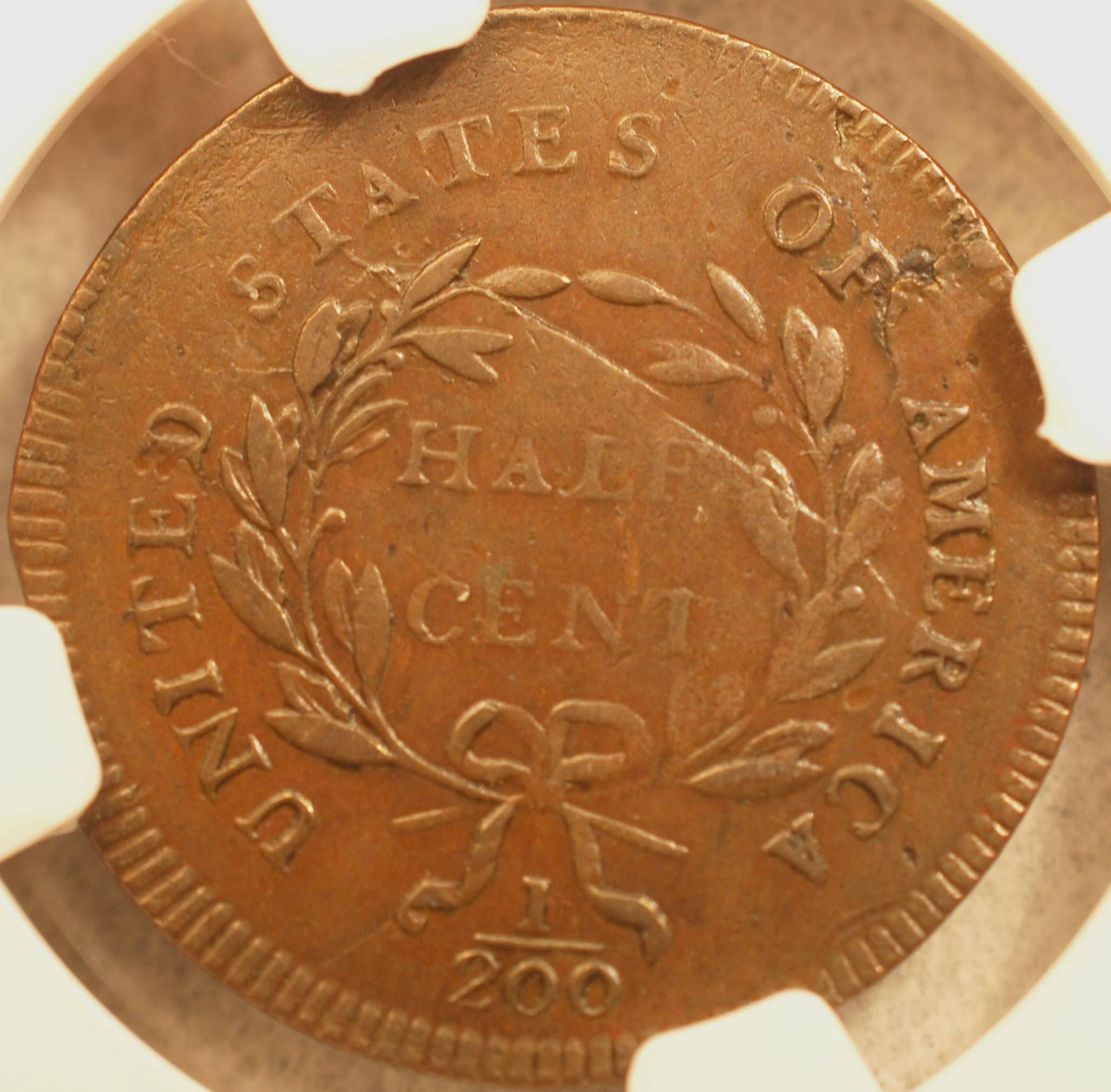 1795 Half Cent Reverse
