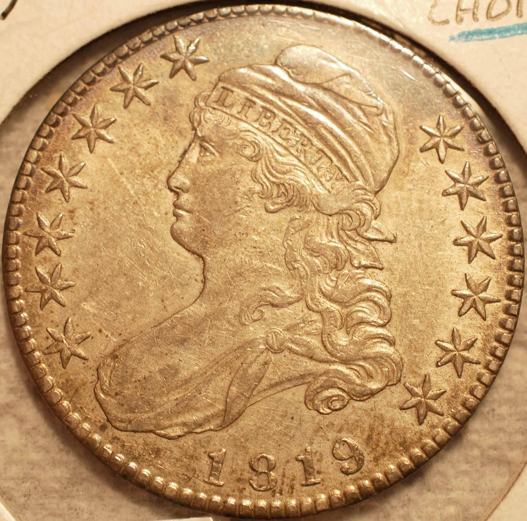 1819 Bust Half Dollar Choice EF