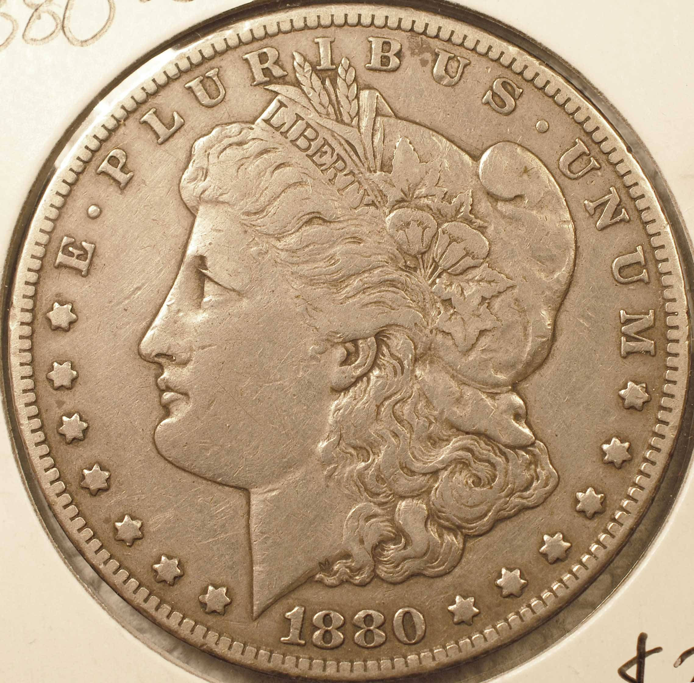 1880-CC Morgan Dollar XF-40 (obverse)