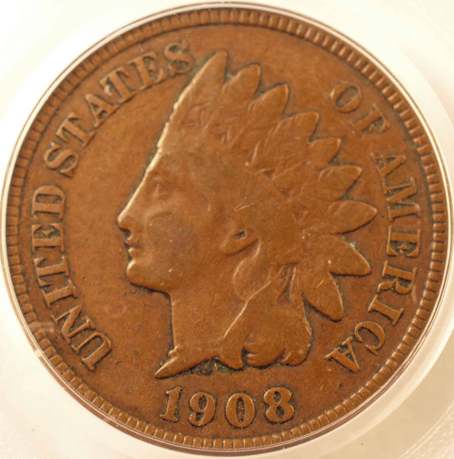 1908-S Indian Cent PCGS F15 Obverse