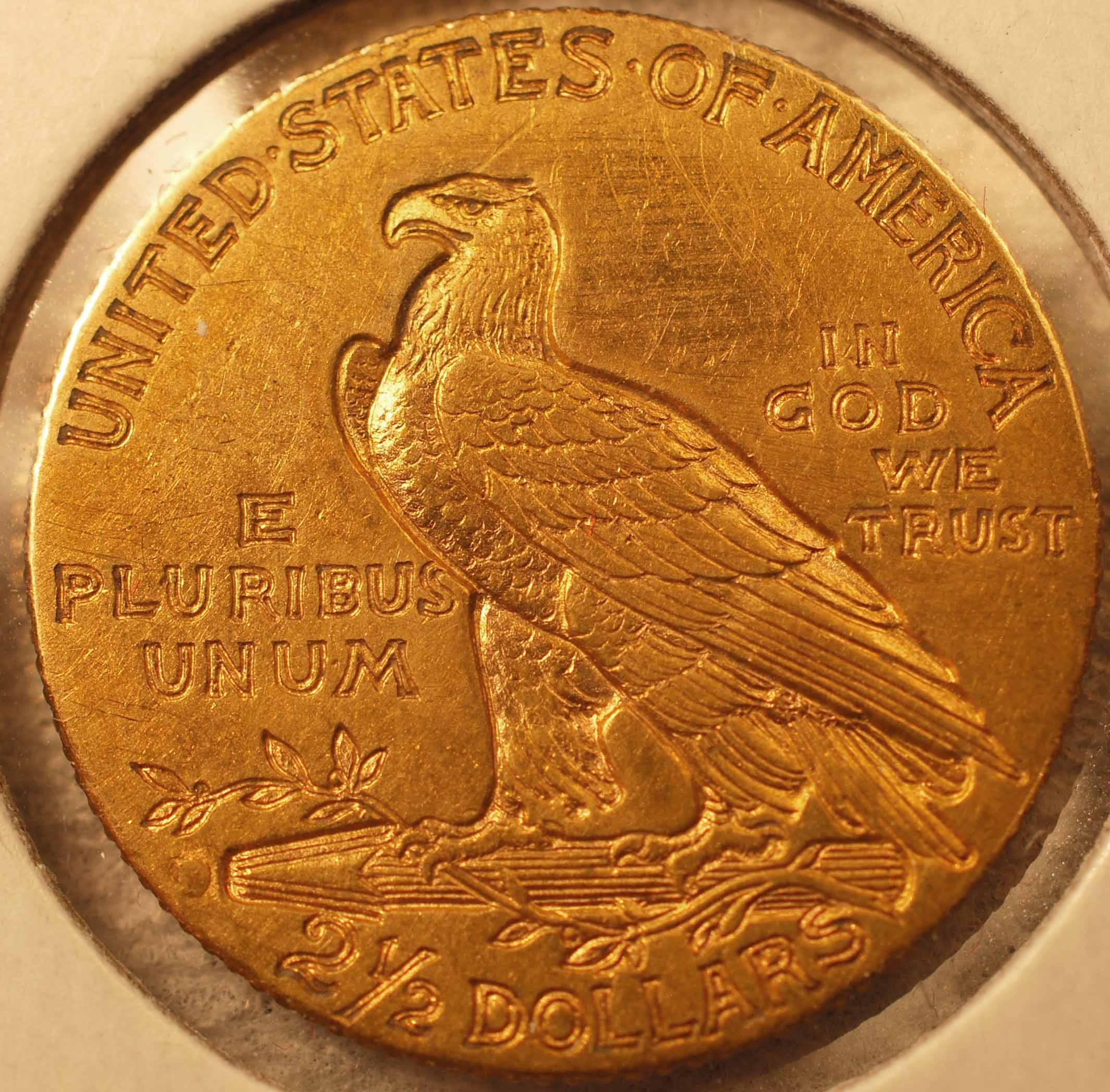 1914-D Gold Quarter Eagle Reverse