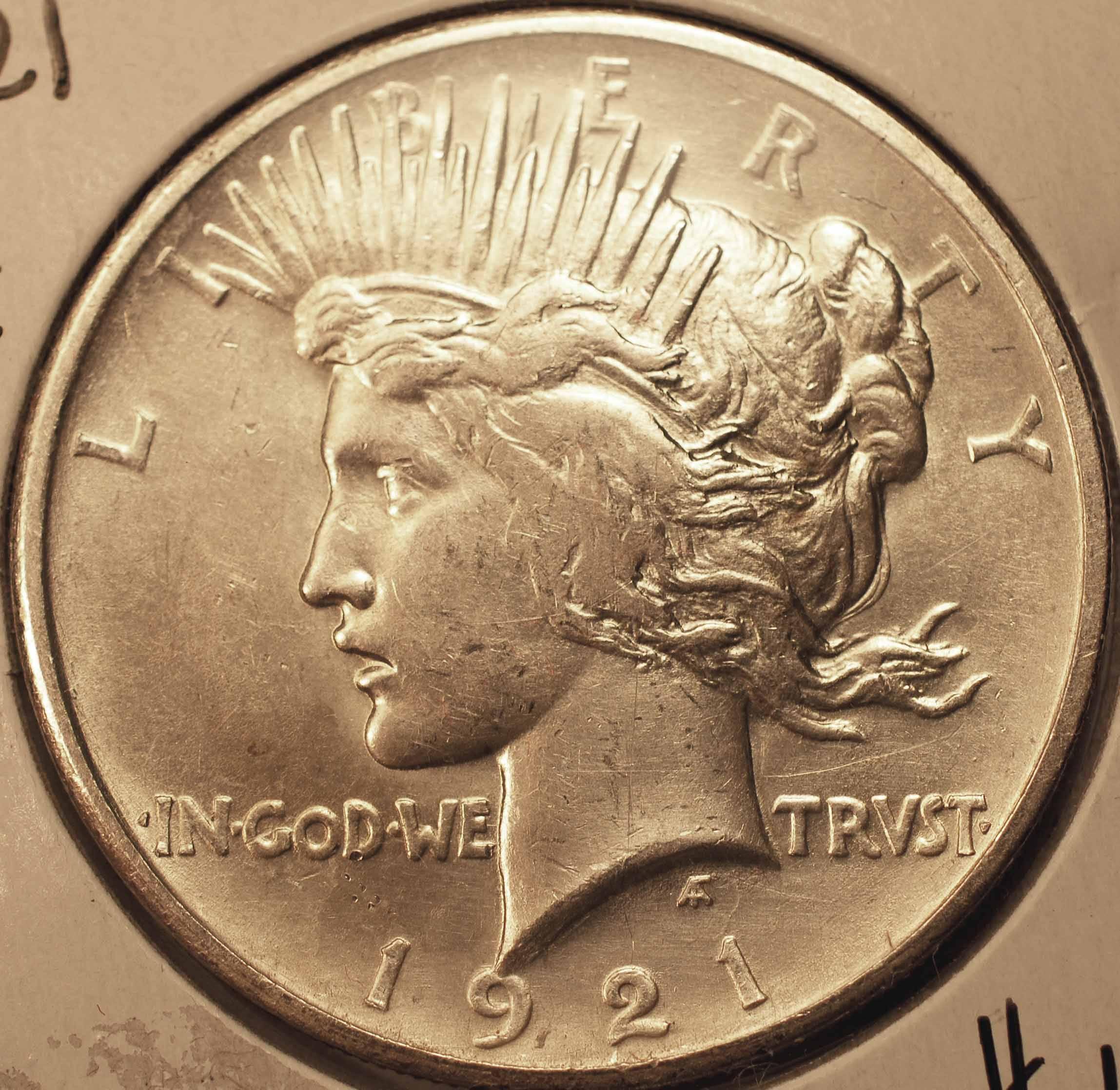 1921 Peace Dollar AU