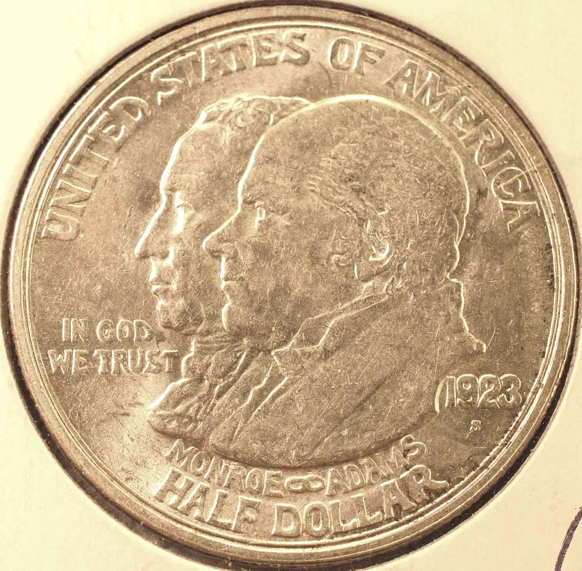 1923-S Monroe Commem (Obverse)