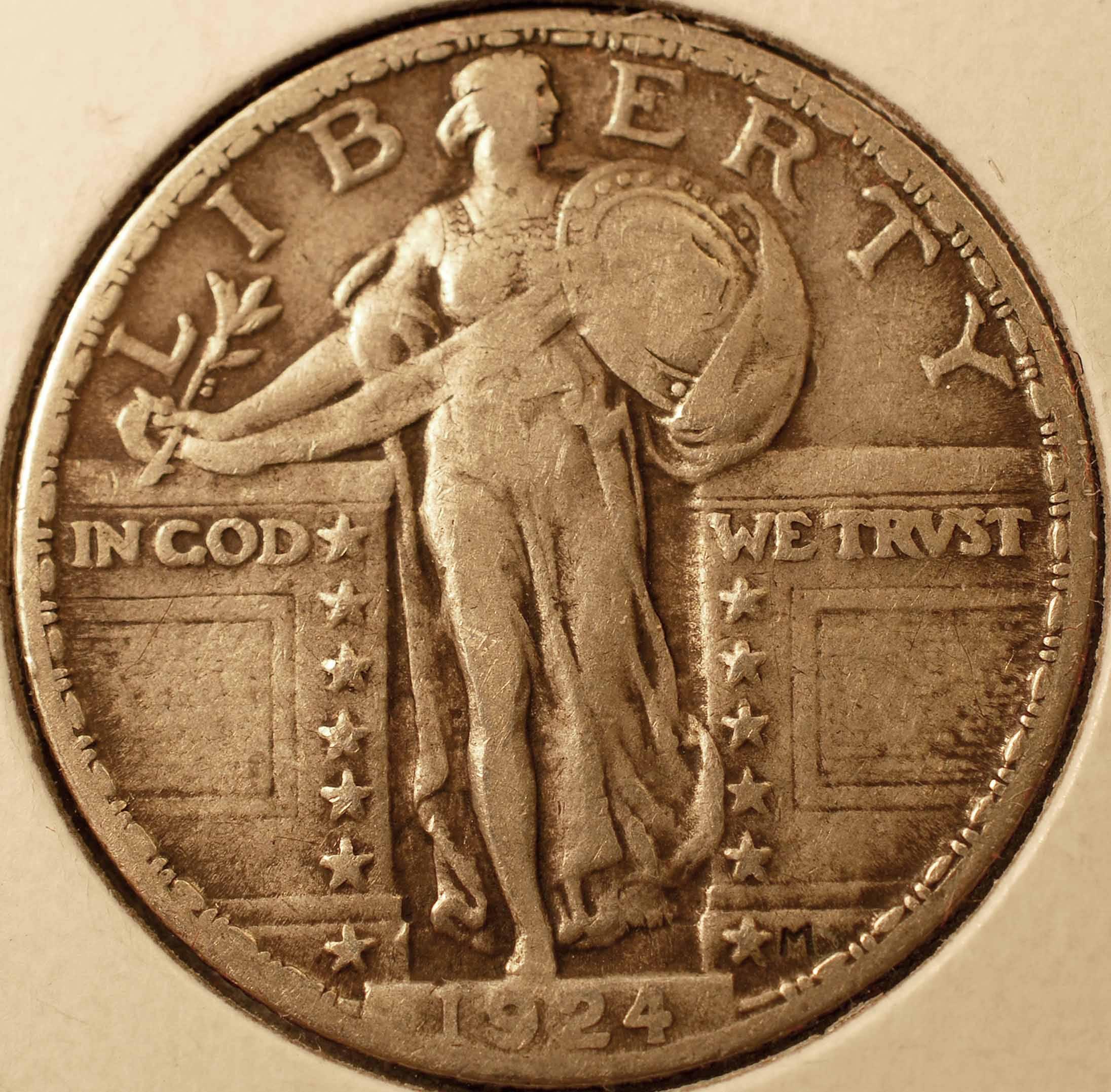 1924 Standing Liberty Quarter Obverse