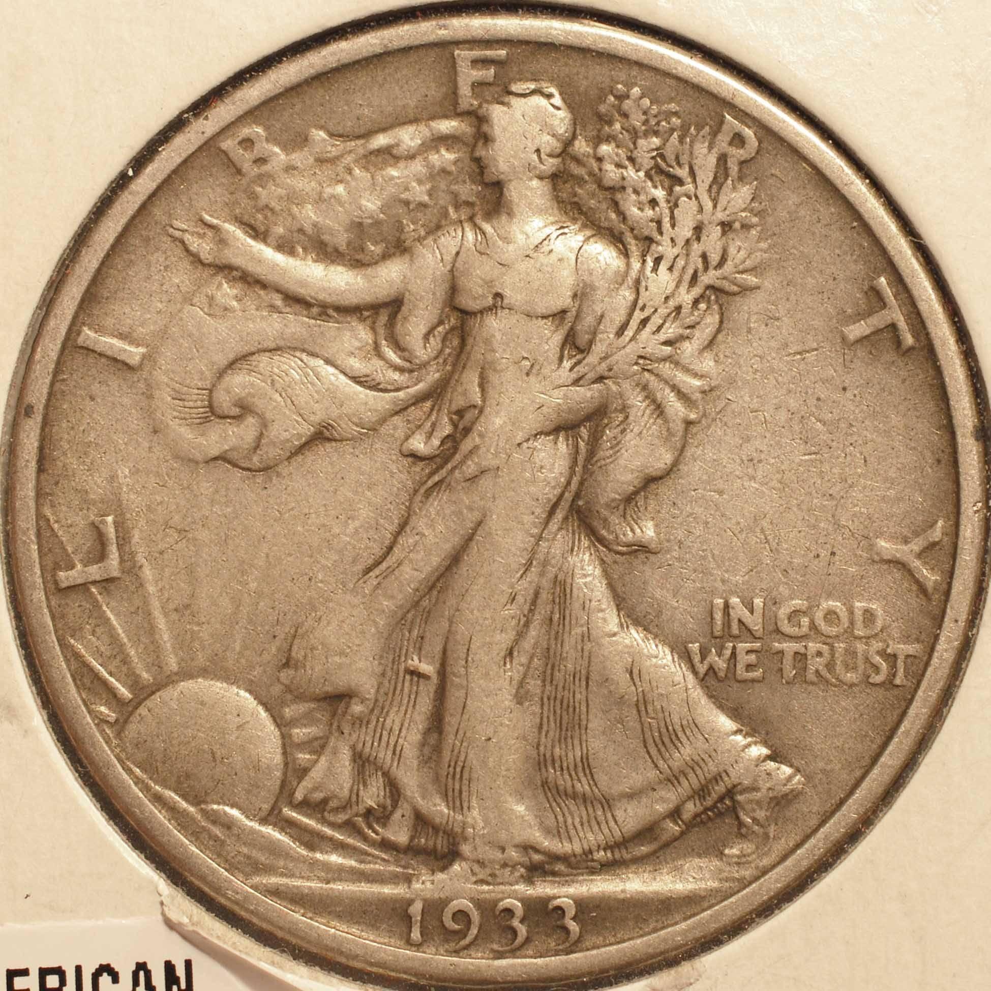 1933-S Walking Liberty Half Dollar EF